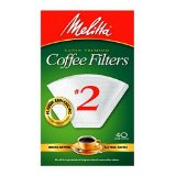 Melitta Cone Coffee Filters, White, No. 2