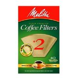 Melitta Cone Coffee Filters, Natural Brown, No. 2