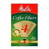 Melitta Cone Coffee Filters, Natural Brown, No. 4