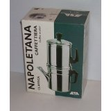 Napoletana Coffee Maker 6 cup aluminum stovetop turning pot