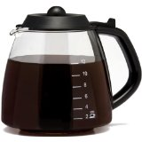 Medelco 12 Cup Millennium Style Carafe, Black