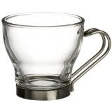 Bormioli Rocco Verdi Espresso Cup With Stainless Steel Handle