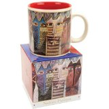 Laurel Burch Mug-Native Feline