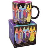 Laurel Burch Mug-Tribal Cats