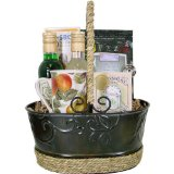 Tea, Flavoring Syrup and Mug ~ Coffee or Tea Gourmet Gift Baskets with Syrup, and more