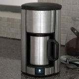Brookstone Stainless Steel Single Cup Coffee Maker