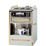 Lavazza One-Cup Espresso Beverage System, Chrome/Gold Stainless Steel