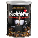 HealthWise™ Gourmet Coffee Low Acid, 100% Colombian Gourmet Supremo, 12-Ounce Cans