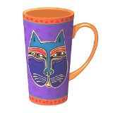Laurel Burch Feline Faces Tall Latte Mug