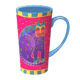 Laurel Burch Feline & Friend Tall Latte Mug
