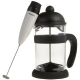 Bonjour Hugo 2-Piece Coffee Press and Frother Set