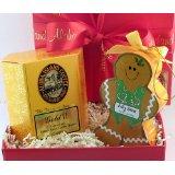 Aloha Island Gift of Gold Kona Blend Coffee and Gingerbread Man Ornament