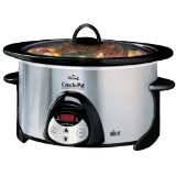 Crockpot SCVP603-SP Smart-Pot 6-Quart Oval-Shaped Smudge-Proof Slow Cooker