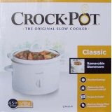 Crockpot SCR450-W 4.5-Quart Round Manual Slow Cookers