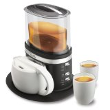 Zarafina Tea Maker Suite with Ceramic Tea Pots, Cups, and Serving Tray