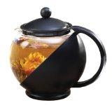 Primula Black 40-Ounce Teapot PTA-4203 Includes Loose Tea Infuser