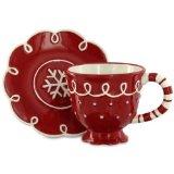 Christmas Cup and Saucer Set - Snow Day