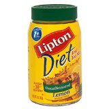 Lipton Diet Decaf Instant Tea Mix, Lemon