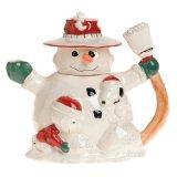Lenox Snoopy's Christmas Earthenware Teapot
