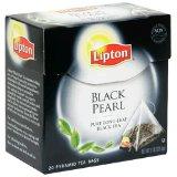 Lipton Black Tea, Black Pearl Pure Long Leaf, Premium Pyramid Tea Bags