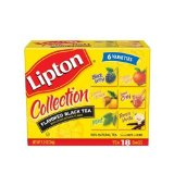 Lipton Flavored Black Tea Collection, Variety Pack of Six Flavors