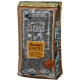 Larrys Beans Fair Trade Mountain Sumatra Whole Bean Organic Coffee