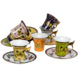 Yedi Butterfly Teacups & Saucers