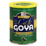 Goya Espresso Decaf Coffee Cans