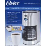Oster 12 Cup Stainless Steel Programmable Coffeemaker