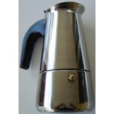 MBR 4 Cup Stainless Steel Espresso Maker