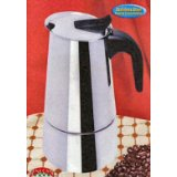 MBR Stainless Steel 6 Cup Espresso Maker