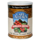 Café Altura Organic Coffee, Fair Trade Classic Roast, Ground