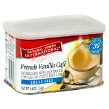 General Foods International Coffee, Sugar Free French Vanilla Cafe Coffee Drink Mix