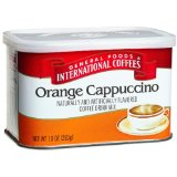 General Foods International Coffee, Orange Cappuccino Italina Style Coffee Drink Mix