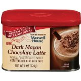 General Foods International Dark Mayan Chocolate Latte Coffee Drink Mix, 8-Ounce Tins (Pack of 6)