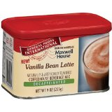 General Foods International Vanilla Bean Latte Decaffeinated Drink Mix