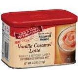 General Foods International Coffee, Vanilla Caramel Latte Drink Mix in Tins