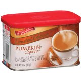 General Foods International Pumpkin Spice Latte Coffeehouse Beverage Mix in Tins