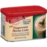 General Foods International Coffee Peppermint Mocha Latte Tins