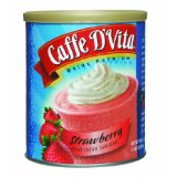Caffe D'Vita Strawberry Fruit Cream Smoothie