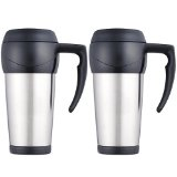 Set of 2 Thermos Stainless Steel 14-oz. Travel Mugs