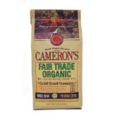 Cameron's Fair Trade/Organic Gold Roast Sumatra Whole Bean Coffee