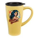 Vandor Wonder Woman Ceramic Travel Mug