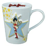 Vandor 14-Ounce Sculpted Wonder Woman Mug