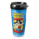 Vandor Wonder Woman Plastic Travel Mug