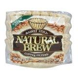 Natural Brew 8-12 Cup Basket Brown Coffee Filters