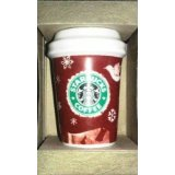 2008 Starbucks Ceramic Mini Cup Christmas Ornament