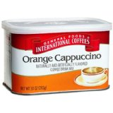 General Foods International Coffee, Orange Cappuccino Italina Style Coffee Drink Mix