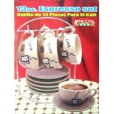 Bene Casa 13 Piece Espresso Set with Stand