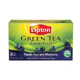 Green Tea Bags by Lipton Superfruit Purple Acai with Blueberry